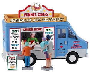 Lemax Village Collection Funnel Cakes Food Truck Set of 4 # 93420