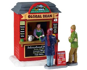 Lemax Village Collection Global Bean Coffee Kiosk # 93439