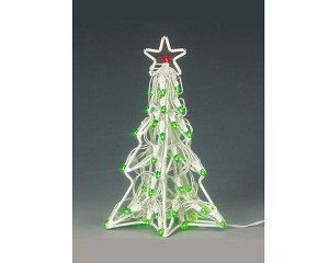 lemax village collection lighted sculpture christmas tree 4 inch battery operated 94400 - Battery Operated Christmas Trees