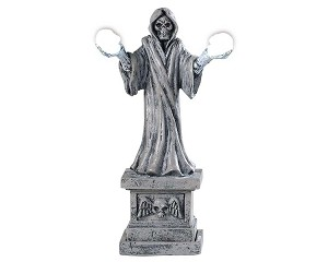 Lemax Spooky Town Skeleton Lamp Battery Operated # 94489