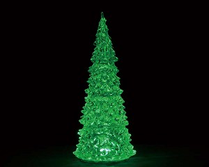 Lemax Village Collection Crystal Lighted Tree Three Color Changeable Large Battery Operated # 94515