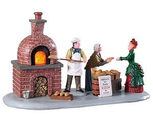 Lemax Village Collection Bread Bakers Battery Operated # 94530