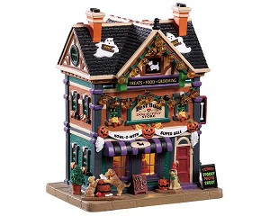 Lemax Spooky Town Best Buds Dog Supply Store # 95459
