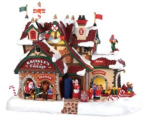 Lemax Village Collection Kringle's Cottage with Adaptor # 95462