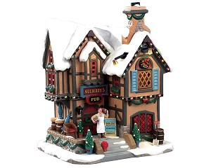 Lemax Village Collection Mulberry's Pub with Adaptor # 95469