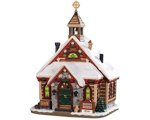 Lemax Village Collection Pinewood Springs Chapel # 95477