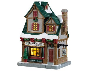 Lemax Village Collection The Secret Santa Christmas Shoppe # 95512