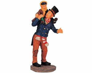Lemax Village Collection Bob Cratchit and Tiny Tim # 02403
