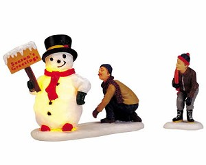 Lemax Village Collection Frosty's Friendly Greeting Set of 2 # 04511
