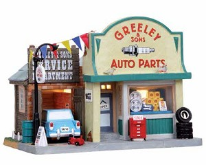 Lemax Village Collection Greeley & Sons Auto Parts # 05028