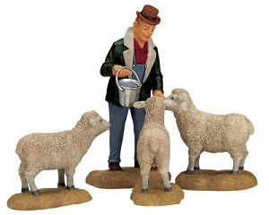 Lemax Village Collection The Good Shepherd Set of 4 # 12499
