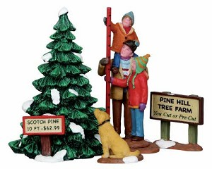 Lemax Village Collection Picking The Tallest Tree Set of 4 # 12926