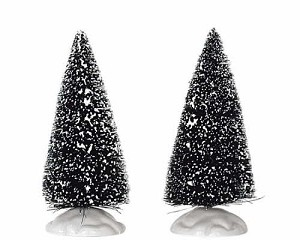 Lemax Village Collection Bristle Tree Set of 2 Small 4 inch # 14004