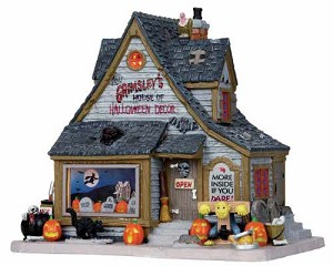 **NO OUTER BOX** Lemax Spooky Town Grimsley's House of Halloween Decor # 15193 **READ DESCRIPTION**