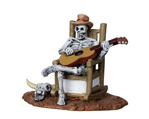 Lemax Spooky Town Rocking Chair Skeleton # 22003