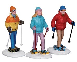 Lemax Village Collection Snowshoe Walkers Set of 3 # 22033