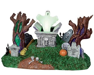 Lemax Spooky Town Haunted Village Cemetery # 24463