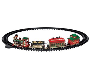 Lemax Village Collection Yuletide Express Set of 16 Battery Operated # 24472
