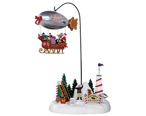 Lemax Village Collection Kringle's Air Field with Adaptor # 24484