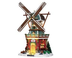 Lemax Village Collection Stony Brook Windmill with Adaptor # 25384