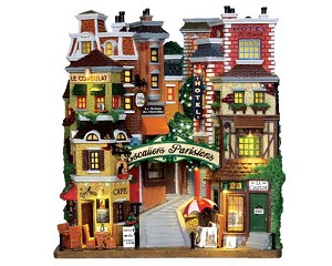 Lemax Village Collection Parisian Stairs Facade Battery Operated # 25402