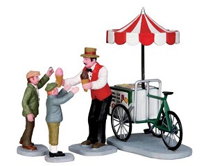 Lemax Village Collection Gelato Cart Set of 4 # 32139