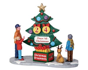 Lemax Village Collection Countdown Tree Set of 7 # 33011