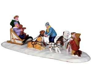 Lemax Village Collection Neighborhood Dogsled Team # 33024