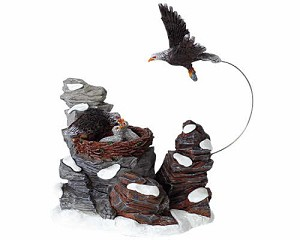 Lemax Village Collection Eagles Feeding # 33401