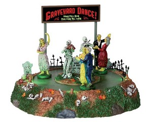 Lemax Spooky Town Graveyard Dance Battery Operated # 34601
