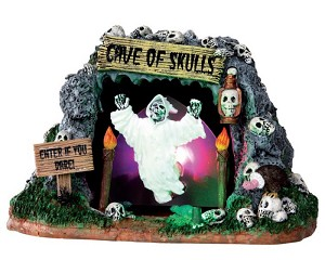 **NO OUTER BOX** Lemax Spooky Town Cave Of Skulls Battery Operated # 34602 **READ DESCRIPTION**