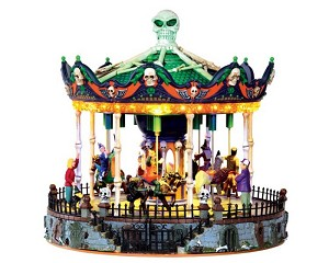 Lemax Spooky Town Scary Go Round with Adaptor # 34605