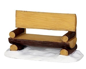 Lemax Village Collection Log Bench # 34617