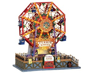 Lemax Village Collection Victorian Flyer Ferris Wheel with Adaptor # 34618