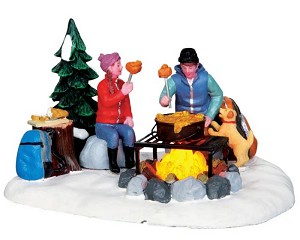Lemax Village Collection Campfire Fondue Battery Operated # 34625