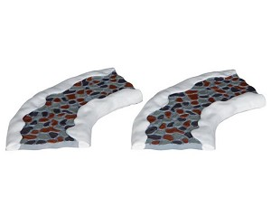 Lemax Village Collection Stone Road Curved Set of 2 # 34663