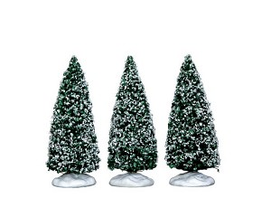 Lemax Village Collection Snowy Juniper Tree Small Set of 3 # 34666