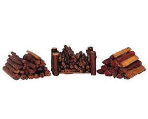 Lemax Village Collection Stacked Firewood Set of 3 # 34955