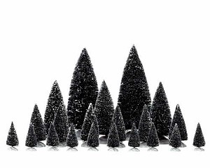 Lemax Village Collection Pine Tree Assorted Set of 21 # 34968