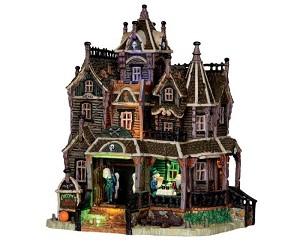 Lemax Spooky Town Creepy's Bed & Breakfast with Adaptor # 35550