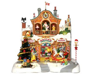 Lemax Village Collection Santa's Workshop with Adaptor # 35558
