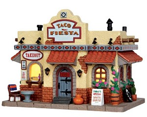 Lemax Village Collection Taco Fiesta Taco Shop # 35577