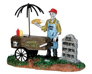 Lemax Spooky Town Ghoul Hot Dog Vendor # 42215