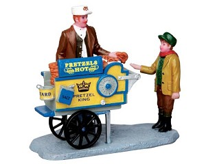 Lemax Village Collection Pretzel King Pretzel Cart # 42238