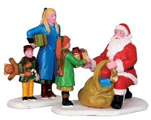 Lemax Village Collection Presents From Santa Set of 2 # 42245