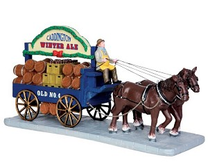 Lemax Village Collection Winter Ale Wagon # 43085