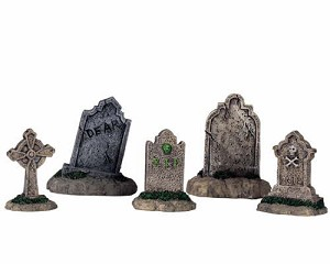 Lemax Spooky Town Tombstones Set of 5 # 44145