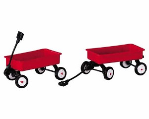 Lemax Village Collection Red Wagons Set of 2 # 44175
