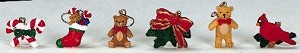 Lemax Village Collection Tree Decoration Christmas Set of 6 # 44202