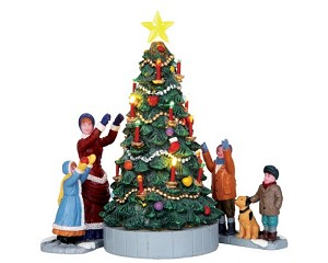 Lemax Village Collection The Village Tree Set of 3 Battery Operated # 44754